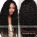 Free Shipping Cheap Black Women Long Kinky Curly Synthetic Lace Front Wig Glueless Heat Resistant Afro Curly Hair Wigs