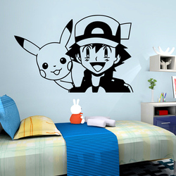 3D Cartoon Pokemon Baby Wall Sticker For Kids baby Room Decoration Bedroom Decor WallPaper Carved Stickers Decals Mural poster