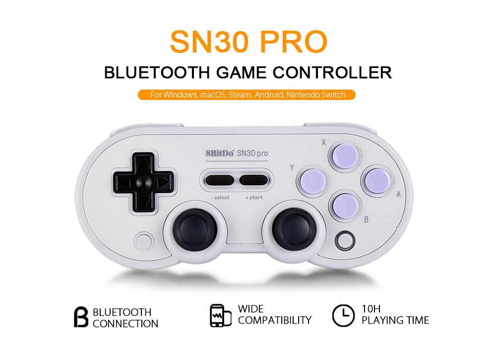 8Bitdo SN30 Pro/SN30 Wireless Bluetooth Game Controller Rainbow Color  Support Nintendo Switch Android MacOS Gamepad