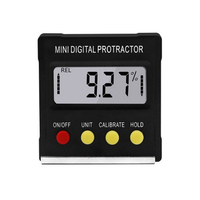 Hot 1 Pcs Mini Digitale Inclinometer Niveau Hoek Gauge Meter Gradenboog Met Magneet TI99