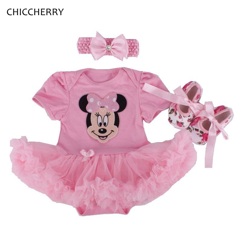 Minnie Cartoon Baby Girl Clothes Classic Baby Tutu Sets -6496