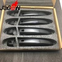 Accessories Carbon Fiber Door Handle Cover Trim For AUDI A1 A4 A5 S4 S5 Q3 Q5 SQ5 RS4 RS5 Car styling