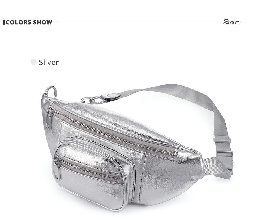 3048f2386e3 Details about Realer fanny pack female waist bag waterproof belt bag purse  money belt bag RDH