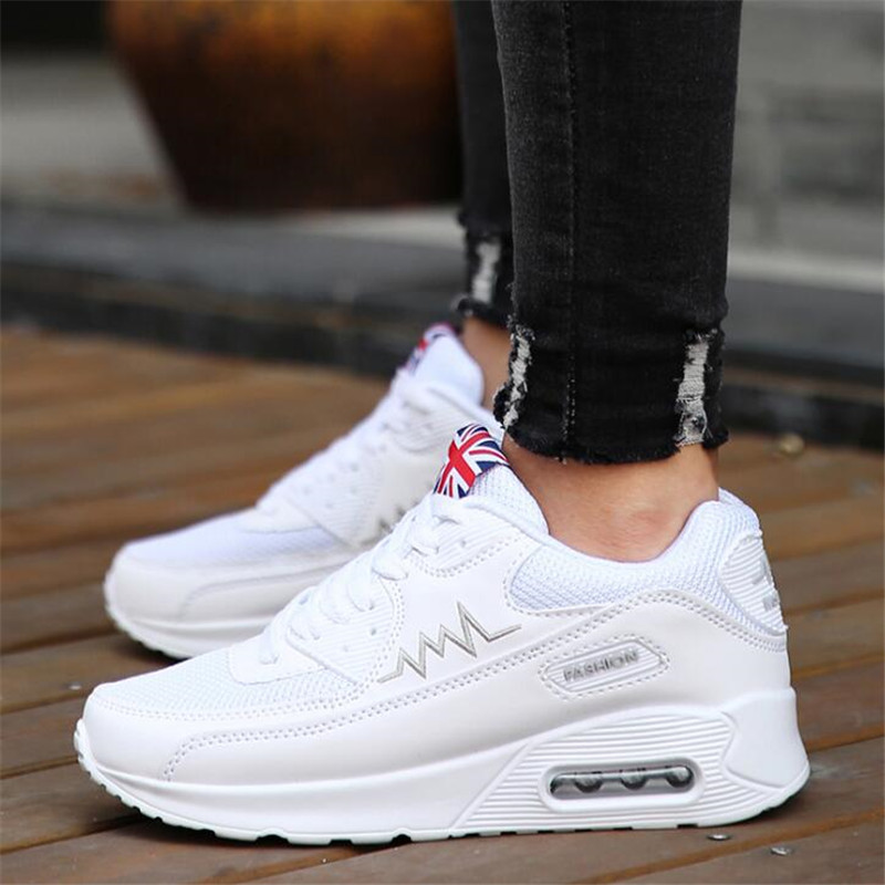 BEINUOLVTU New Air Cushion Sneakers for women running shoes Breathable sneakers White sports shoes women