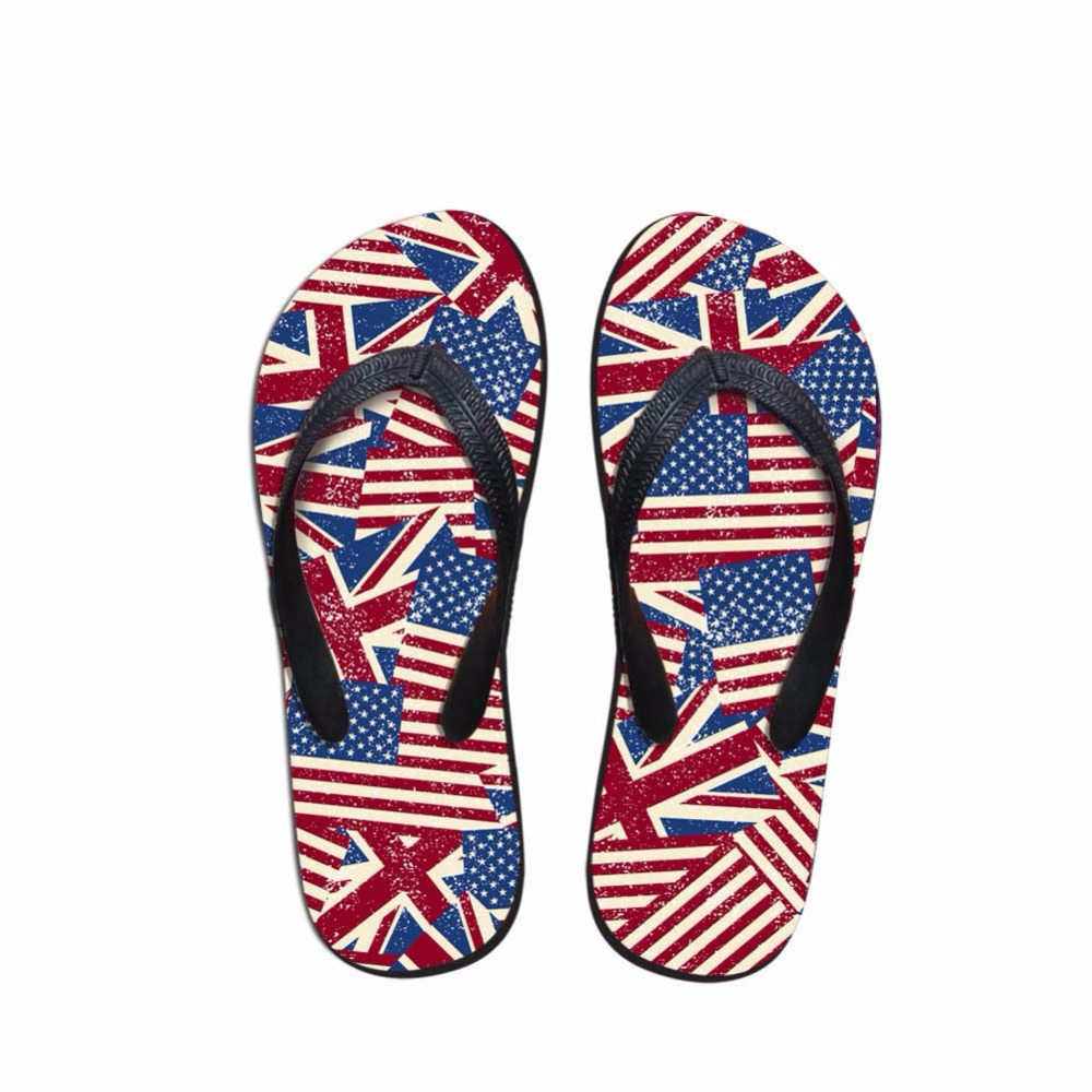 Noisydesigns Men's flip-flops boys sandals male star stripe national - Men's Shoes - Photo 1