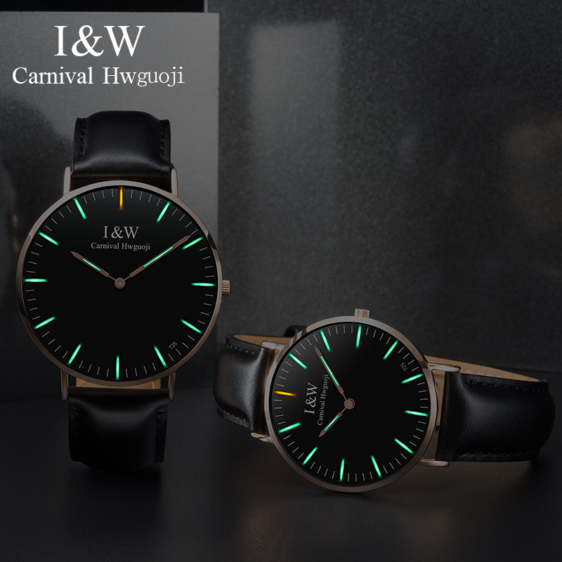 I&W T25 Tritium Watch Men Carnival Waterproof Mens Watches Top Brand Luxury Quartz Wristwatch Leather Strap Clock montre homme I&W T25 Tritium Watch Men Carnival Waterproof Mens Watches Top Brand Luxury Quartz Wristwatch Leather Strap Clock montre homme