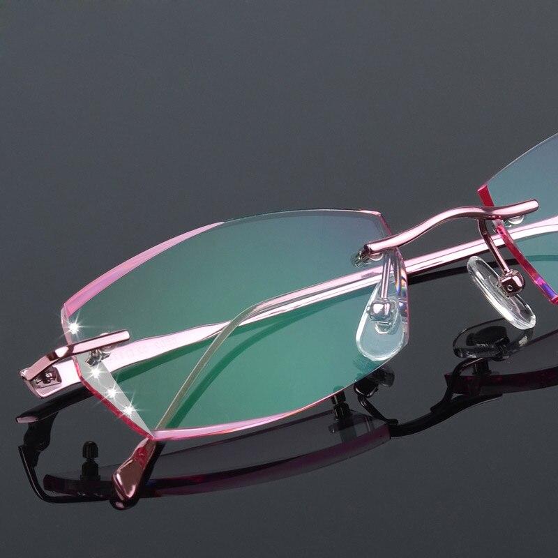 Luxusní brýle bez ráfku ženy krátkozraké brýle na dioptrické - Příslušenství pro oděvy