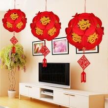 Fu zi китайский фонарь из нетканого материала, Новогоднее украшение, рождественские украшения для дома, праздничный фонарь, новогодний декор
