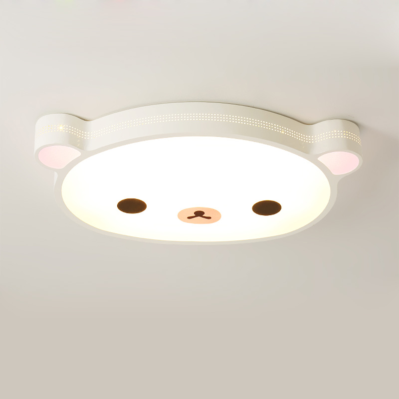 Kids 24W Led Ceiling Light With Remote Control Fixtures Modern Living Room Bedroom Room Lamp Decor Home Lighting Bear Iron 220V bedroom living room light lustre modern led ceiling lamp with remote control white black metal decor home lighting fixtures 220v