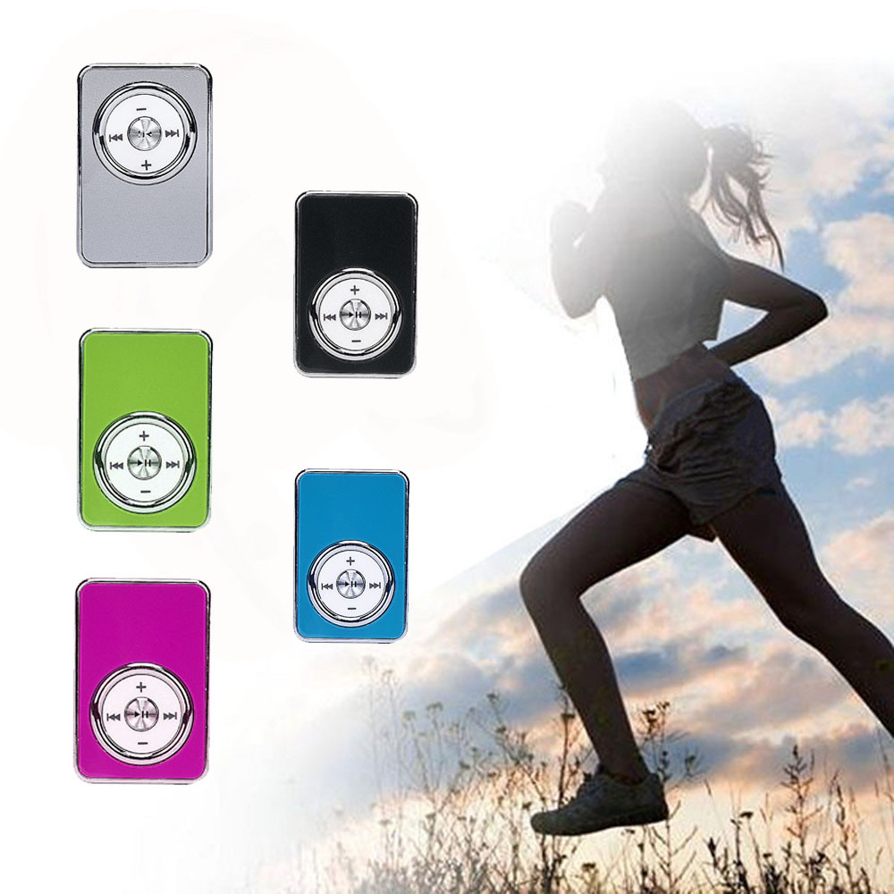 USB Slim Mini MP3 Player Support 32GB Micro SD