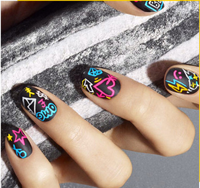 Mermaid nail Cepillos Goldfish pescado Básculas puntos mango UV gel ...