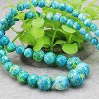 Fashion Tower Necklace Chain Semi Precious Stones Jasper 6 14mm Jewelry Riverstones Rain Flower Rainbow Women