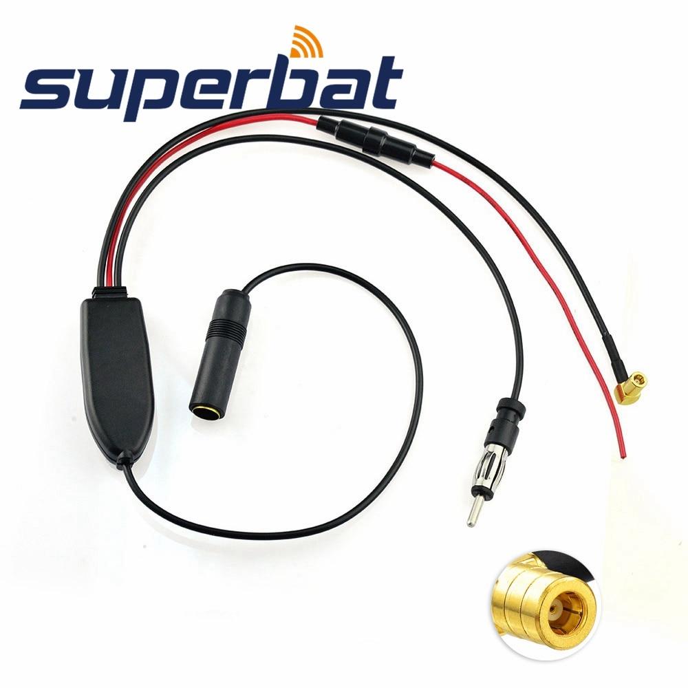 Superbat Araba Dijital Radyo Evrensel DAB + DVB T2 FM / AM Araba Anteni Anten Sinyali Splitter Amplifikatör için Pioneer JVC DIN 41585