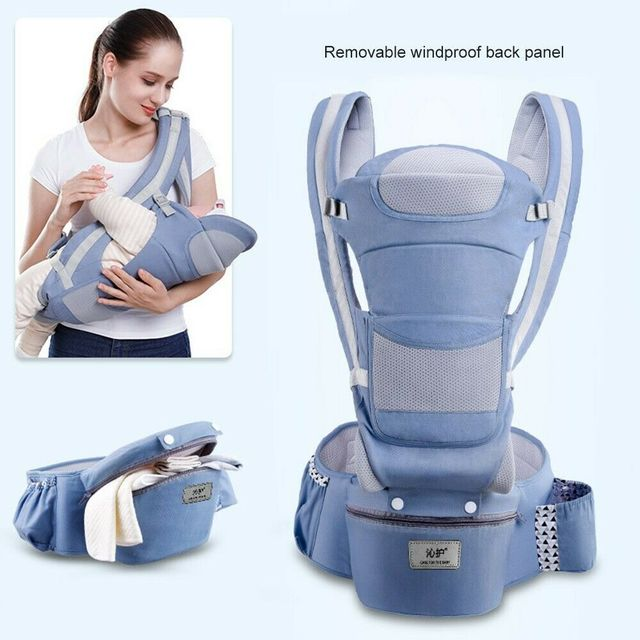 Baby Carriers Backpack Soft Comfortable Baby Carrier Wrap Cotton Breathable Wrap Kangaroo Bag Odorless Infant HipSeat