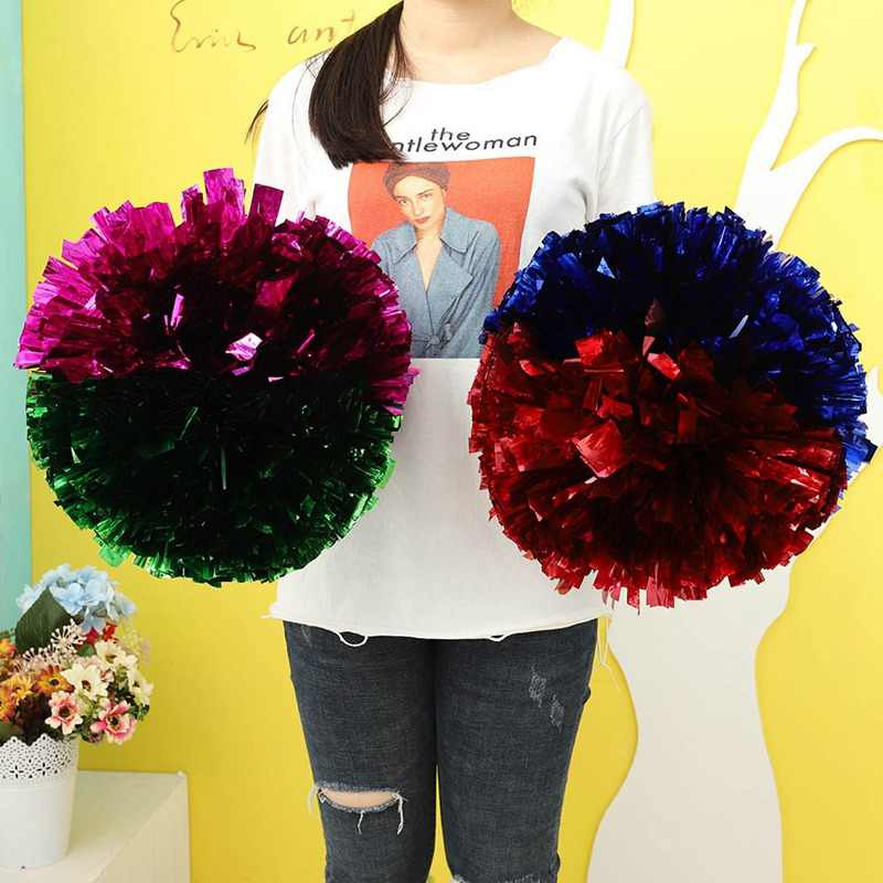 1 piece Cheer Dance Sport Supplies Competition Cheerleading Pom Poms Flower Ball Lighting Up Party Cheering Fancy Pom Poms