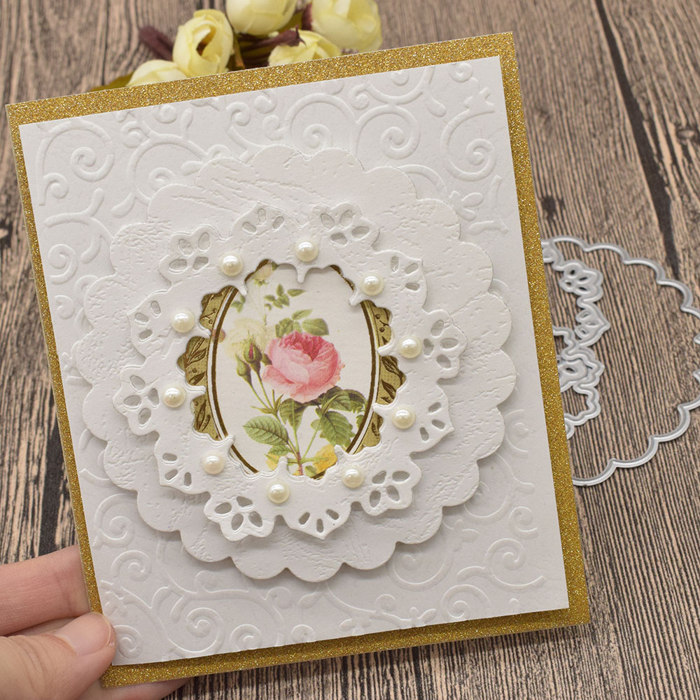 Animal Die Cut Circle Flower Lace Frame Metal Cutting Dies For Scrapbooking Card Album Decoration Card Making Supplies in Cutting Dies from Home Garden