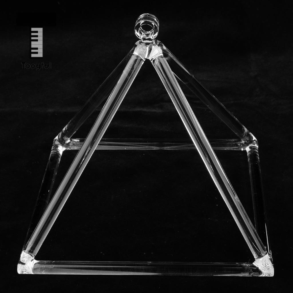 Tooyful Clear Root Chakra Quartz Crystal Singing Pyramid C Note for Meditation,Prayer Relax 8''