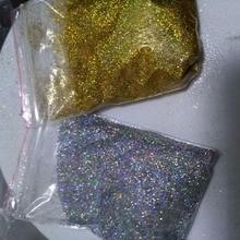 10 г/пакет бриллиантовый голографический блеск ультра тонкий. 008, серебряный и золотой Радужный Блеск, свободный блеск, УФ гель для ногтей блестки LB1001