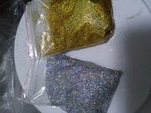 10g/bag Diamond Holographic Glitter Ultra Fine .008, Silver and gold rainbow glitter, loose glitter,UV gel nail glitters LB1001(China)