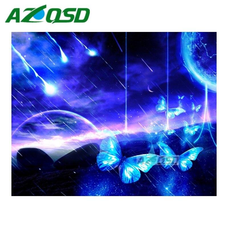 Azqsd DIY алмазов картина вышивки крестом метеорный поток полный квадрат дрель с бриллиантами вышивка Набор Мозаика Картина Декор bb4819