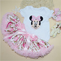 Feikebella Summer Cute infant clothes set rabbit romper+ puff tutu pettiskirt +headband 3 pieces baby girls product 0-24M