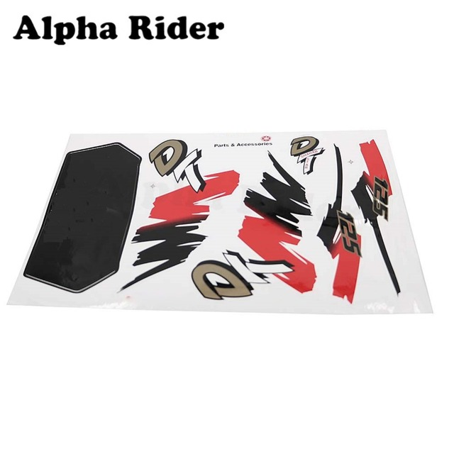 US $8 08 5% OFF|Motorcycle Sticker Decals For Yamaha DT 125 DT125R DT125LC  DT125MX DT125X All Models Fuel Gas Tank Decals Graphic-in Decals & Stickers