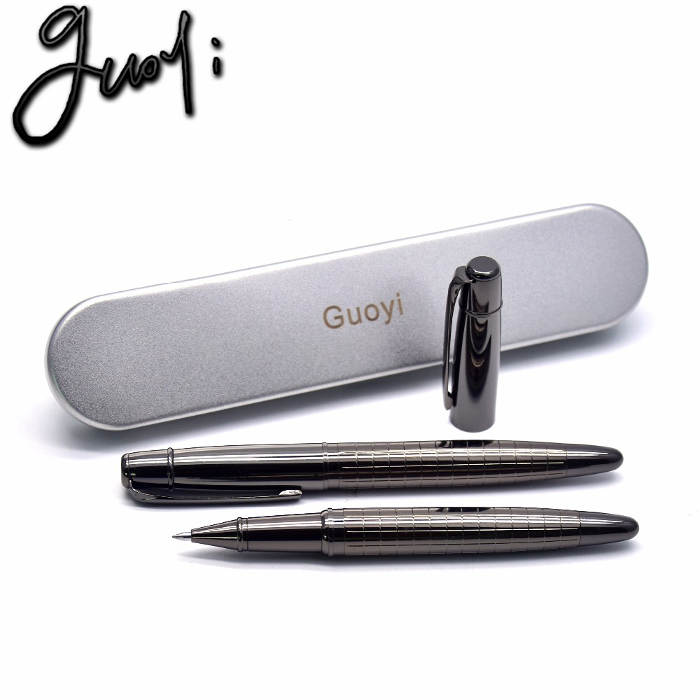 Guoyi A109 Engraved flower metal ballpoint <font><b>pen</b></font> Office stationery & School <font><b>Pens</b></font>, Pencils & Writing Supplies high quality Gift <font><b>pen</b></font>