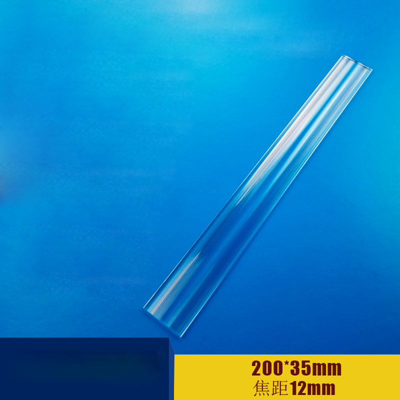 2PCS 200x35mm Optical PMMA Plastic linear Fresnel Lens Projector Fresnel Lens Plane Magnifier,Solar Energy Concentrator 1pcs 400x300mm optical pmma plastic projector solar fresnel lens focal length 510mm projector plane magnifier solar concentrator