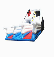 Commercial Giant Inflatable Dry Slide Inflatable Bounce Big Stick Obstacle Slide