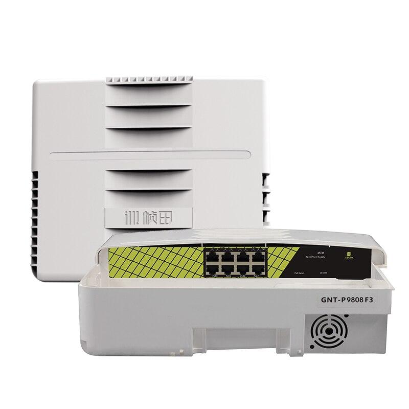 10/100 Mpbs 8 Port Industrielle Ethernet Smart Netzwerk Poe Schalter Für Überwachung Kamera Im Freien Schalter
