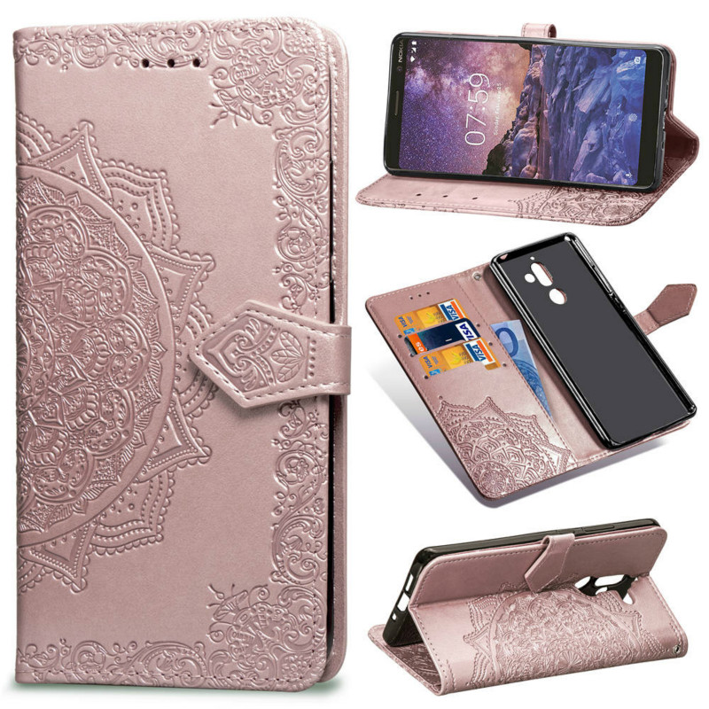 Embossing Wallet Cover <font><b>for</b></font> <font><b>Nokia</b></font> 3.1 2018 <font><b>TA</b></font>-1049 <font><b>TA</b></font>-1057 Flip Leather Phone <font><b>Case</b></font> <font><b>for</b></font> <font><b>Nokia</b></font> 5.1 <font><b>TA</b></font>-1061 <font><b>TA</b></font>-<font><b>1075</b></font> 7 Plus Phone Bag image