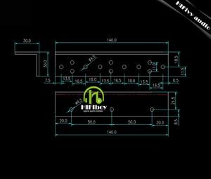 Image 3 - Golden Seal Triode 2N3055 MJ2955 MJ19025 Matching radiator of HD1969 circuit amplifier heatsink drilling and mounting holes