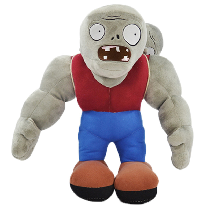 30cm Cartoon Plants VS Zombies Gargantuar Zombie Plush Toys PVZ Gargantuar Plush Soft Stuffed Toys Doll Gifts for Kids Children 13 20cm pvz plants vs zombies 2 plants saucer plush toys games pvz plant ufo plush soft stuffed toys doll for kids children gift