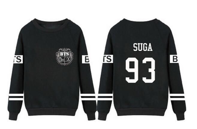 Kpop BTS Bangtan men women JungKook army zip male character Pullover Hoodies Clothes Print Long hooded Sweatshirts Concert shirt