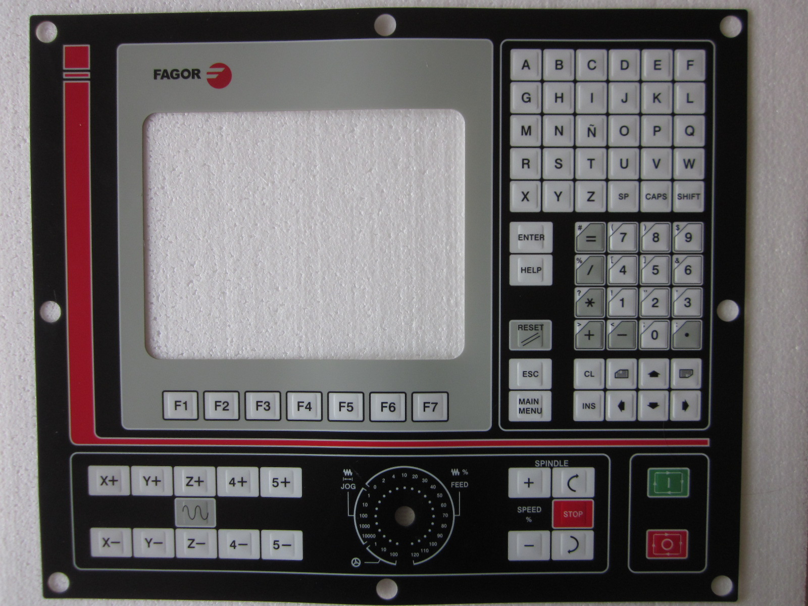 New keypad membrane for Fagor 8055i/B-M 8055i/A-M operation panel repair, Have in stock new membrane keypad operation panel button mask for mp270 10 6av6542 0ad15 2ax0