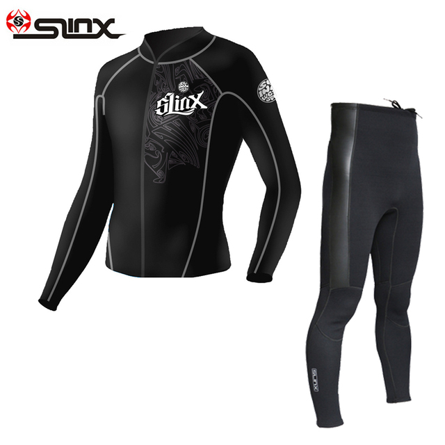 7cdf907f0e SLINX 2mm neoprene wetsuit jacket pant for men diving snorkeling dragon jacket  swimming surfing top clothes size s to 3XL