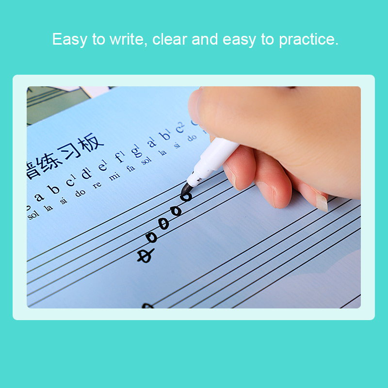 Rewritable Musical Notation Staff Sheet Practice Board Exercise