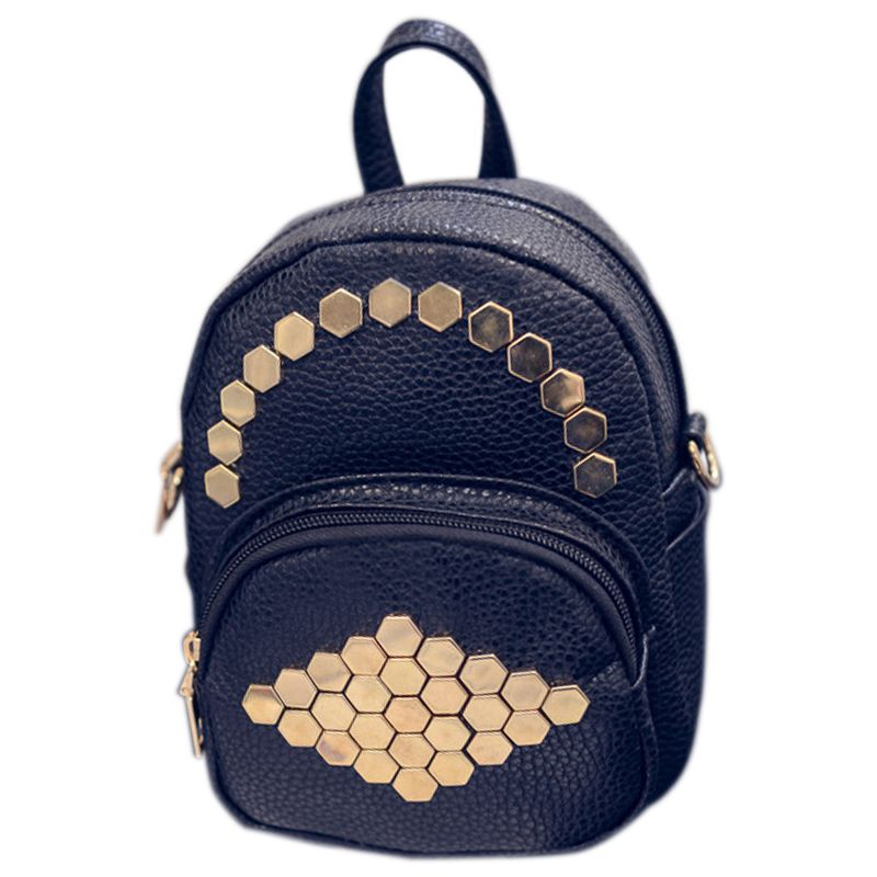 FGGS New Mini Small Women Backpack Female Leather Solid Rivets Backpack School Bags For Teenage GirlsFGGS New Mini Small Women Backpack Female Leather Solid Rivets Backpack School Bags For Teenage Girls