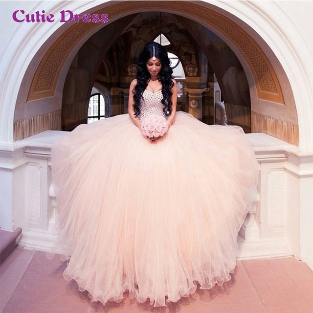 Sweetheart Lovely Ball Gown Princess Bridal Wedding Dress Dazzling ...