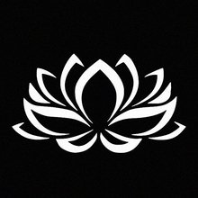 Lotus Flower White Vinyl Car Window Decal Sticker
