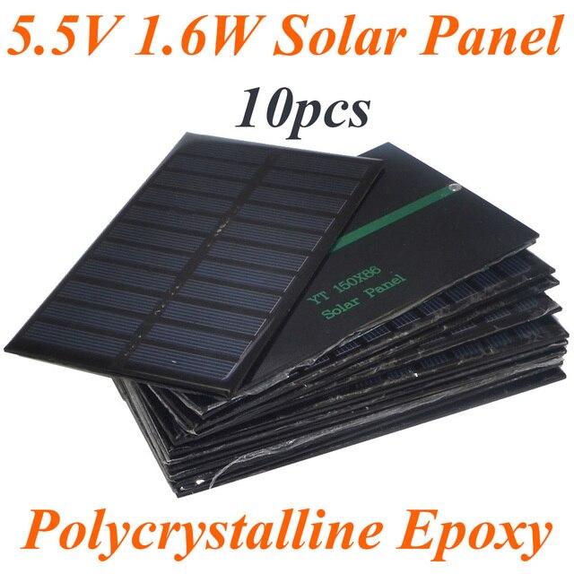 10 Pz/lotto Vendita Calda 5.5 V 270mA 1.6 W Mini Pannelli Solari Piccolo  Energia