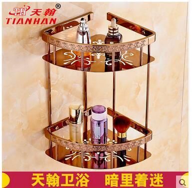 Tous les wei yu cuivre européenne-style placage or rose triangle panier de découpent des modèles ou des conceptions sur boiseries salle de bains coin sh