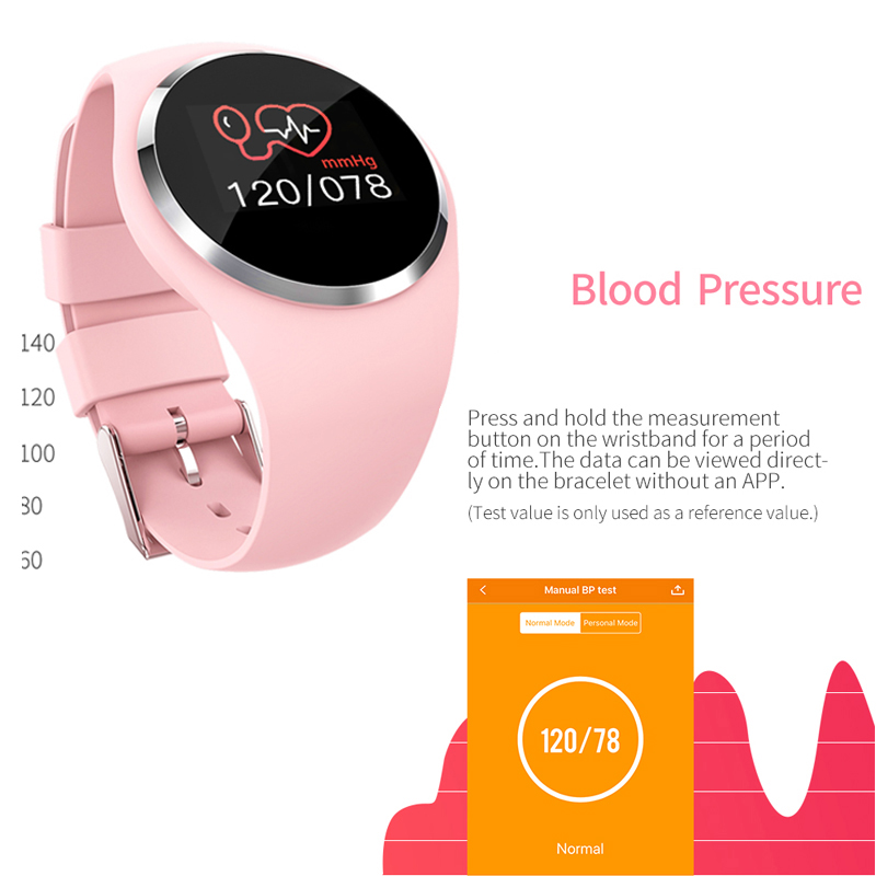Image 4 - Women Smart Watch Fitness Bracelet Heart Rate Monitor Blodd Presssure Measurement Call Riminder for iPhone xiaomi Samsung Pink-in Smart Wristbands from Consumer Electronics