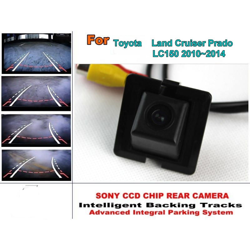 For Toyota Land Cruiser Prado LC 150 LC150 2010~2014 Car Parking Camera / with Tracks Module Rear Camera CCD Night Vision black rear trunk cargo cover shade for toyota land cruiser prado fj150 2010 2011 2012 2013 2014 2015