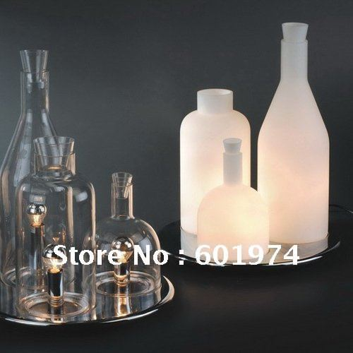 Free Shipping !Wholesale ITRE Bacco 123 table lamp ,GUIDO ROSATI DeviseTransparent glass bottle desk lamp,Modern lighting
