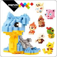 LNO Anime Game Pocket Monster Pikachu Lapras actiefiguren Pokeball Mini Building Diamond DIY modellen Blokken educatief speelgoed(China)
