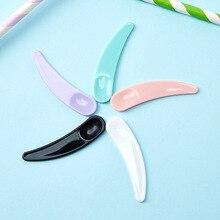 100pcs/lot Mini Cosmetic Spatula Scoop Disposable Mask White Black Green Purple Plastic Spoon