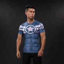 Captain America T Shirt 3D Printed T-shirts Men Avengers iron man Civil War Tee Cotton Fitness Clothing Male Crossfit Tops