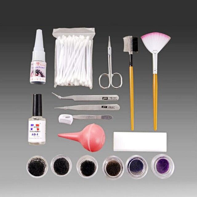 Pro maquiagem cílios enxertia cílios falsos cílios extensão set kit portátil cosméticos beauty salon