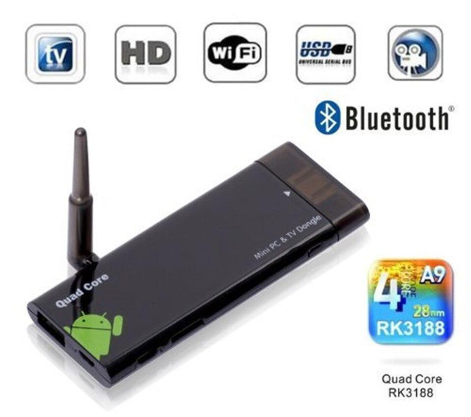 TV Dongle Quad core CX919 rockchip rk3188 t 2 GB 8 GB CX-919 CX 919 Mini PC Android 4.4.2 Kitkat bluetooth Antena externa Wi-fi